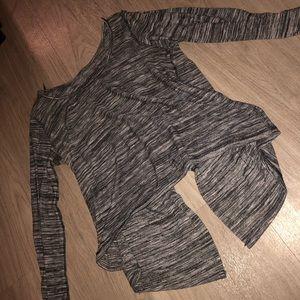 Tops - Long Sleeve Open Back Shirt